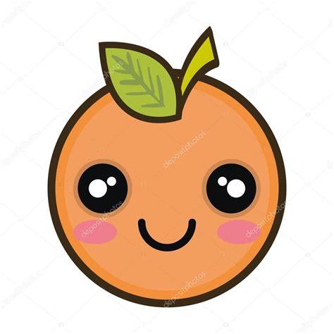 imagenes de frutas kawaii fruta de desenho animado laranja kawaii vetor de stock