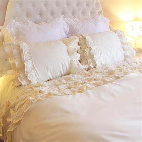 cream lace comforter items similar to country cottage victorian romantic cream