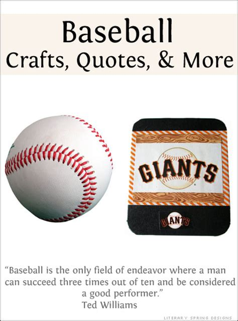 baseball crafts for baseball crafts quotes and links literary designs