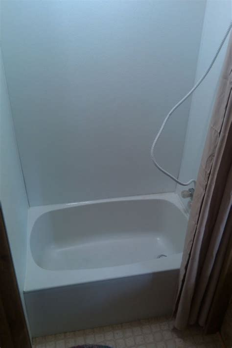 travel trailer without bathroom replace old tub and shower walls gling cing