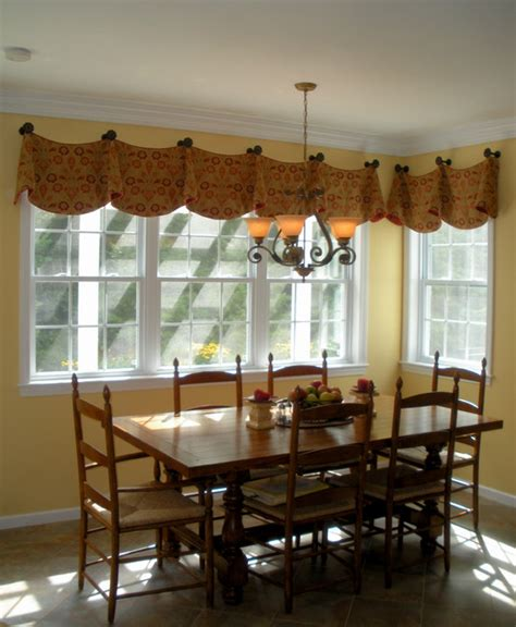 Window Valance Ideas For Kitchen Kitchen Curtains On Valances Window Treatments And Traditional Kitchens