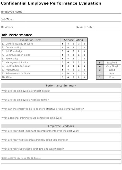 Hr Recruitment Template Employee Performance Evaluation Form Template Connections