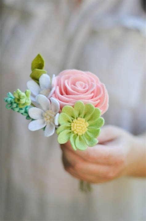 Handmade Flower Bouquets - 25 best ideas about felt flowers on felt