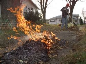 Burn Leaves In Backyard by Fall Leaf Burning Hazardous To Your Health Leads To Air