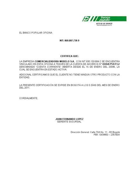 solicitar certificacion bancaria en bancolombia certificaciones bancarias
