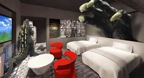 love hotel themes japan world s first godzilla themed hotel opens in the famous