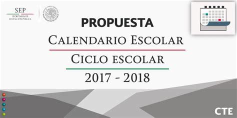 Calendario Tec 2017 Consejos T 201 Cnicos Escolares