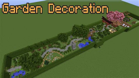 Garden Decoration Free by Minecraft Garden Decoration Ideas
