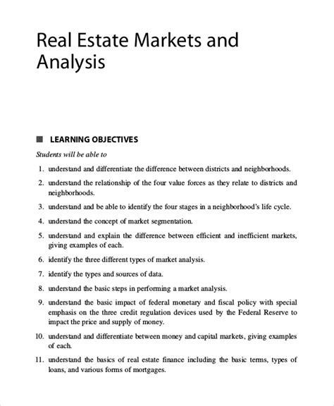 cool market analysis exle images resume ideas