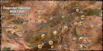 Dragon Age Inquisition World Map by Dragon Age Inquisition Walkthrough Game Guide Amp Maps