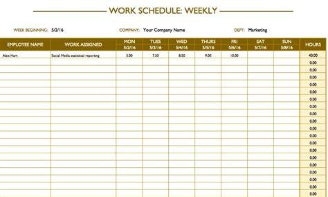 schedule planner templates word excel