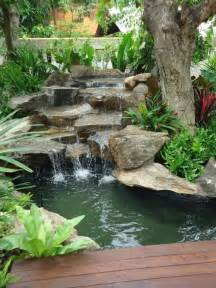 Small Garden Waterfall Ideas 75 Relaxing Garden And Backyard Waterfalls Digsdigs