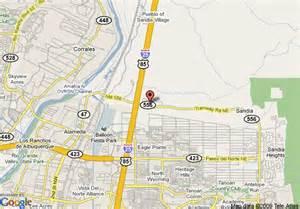 New Mexico Casinos Map by Map Of Sandia Resort And Casino Albuquerque