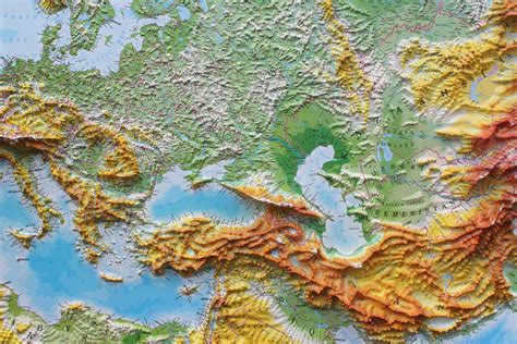 relief map 3d raised relief map of europe 163 185 00 cosmographics ltd