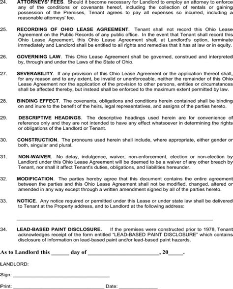 Download Ohio Residential Lease Agreement Template For Free Page 7 Formtemplate Free Residential Lease Agreement Template Ohio