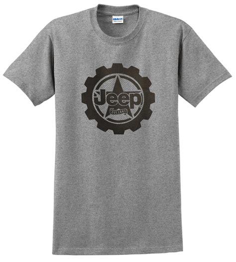 Kaos Tshirt Jeep Est 1941 All Things Jeep Jeep Big Cog Mens T Shirt In Grey