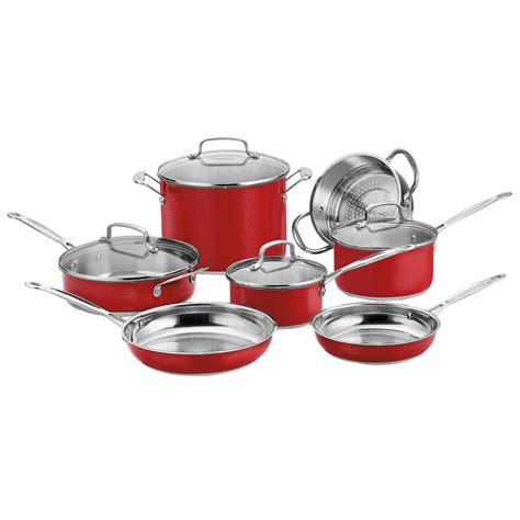 Oxone Classic Cookware Set cuisinart chef s classic 11 cookware set with lids css 11mr the home depot