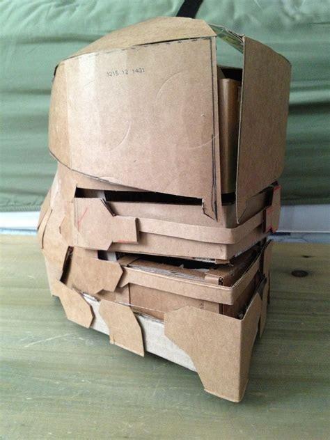 earthgov security cardboard suit helmet wip by decadent