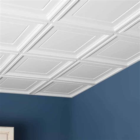 ceiling tiles genesis ceiling tile 2x2 icon coffer tile in white