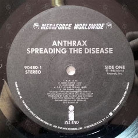 Spreads The Disease by Anthrax Spreading The Disease 12 Inch Lp Vinyl