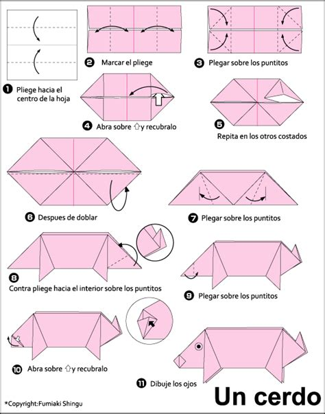 How To Make A Origami Pig - origami pig