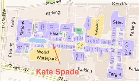 Yorkdale Floor Plan by West Edmonton Mall Kate Spade Floor Plan Retail Insider Png