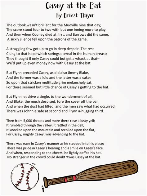 printable version of casey at the bat read and black and learning all over poetry practice with