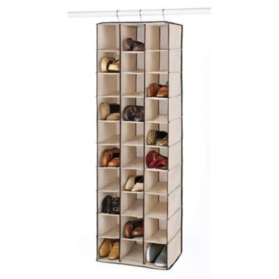 shoe hanging storage buy hanging shoe storage from bed bath beyond