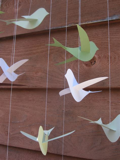 How To Make A Paper Mobile - how to make a bird mobile our humble abode