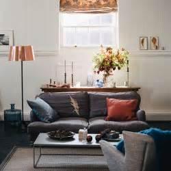 copper room decor alwinton corner sofa handmade fabric gardens pewter and copper