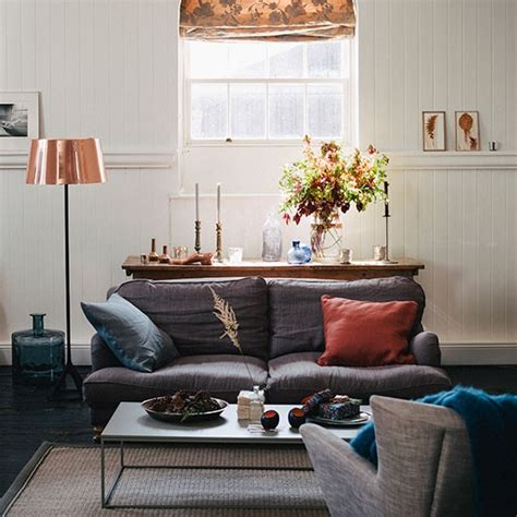 copper room decor cream living room with grey and copper decorating