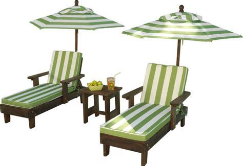 kidkraft outdoor chaise lounge chairs  umbrella set