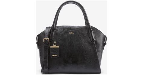 Shiny Friday As The Bag Talks Bags Sales And The Accessories by Dkny Shiny Lizard Print Shopper In Black Lyst