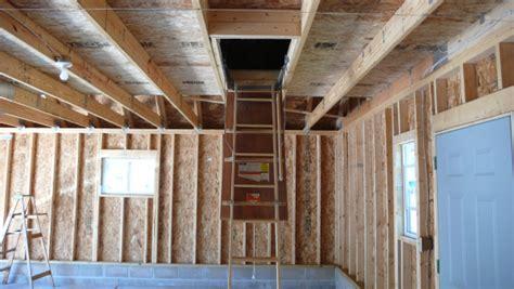 Garage Storage In Rafters Exceptional Garage Attic 9 Garage With Attic Storage