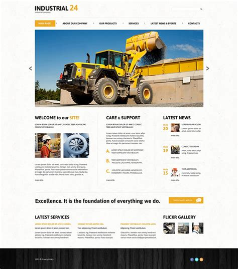 theme wordpress newsletter 25 best industrial wordpress themes responsive designmaz