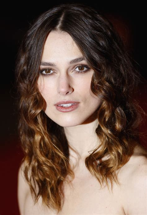 curly hair styles that are longer in the front keira knightley curly hair in medium long length with side