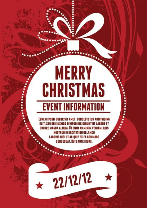 Best 25 Christmas Poster Ideas On Pinterest Christmas Flyer Christmas Graphic Design And Dinner Poster Template