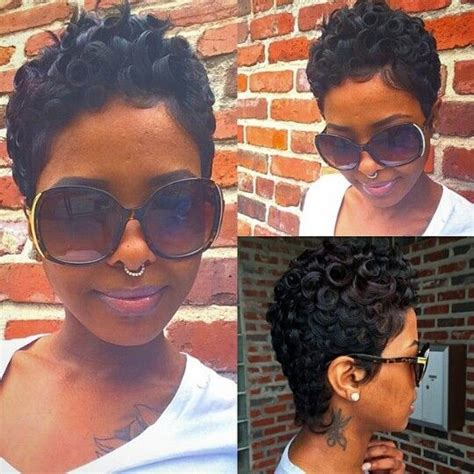 pin curl styles for black women 24 stunning short hairstyles for black women styles weekly