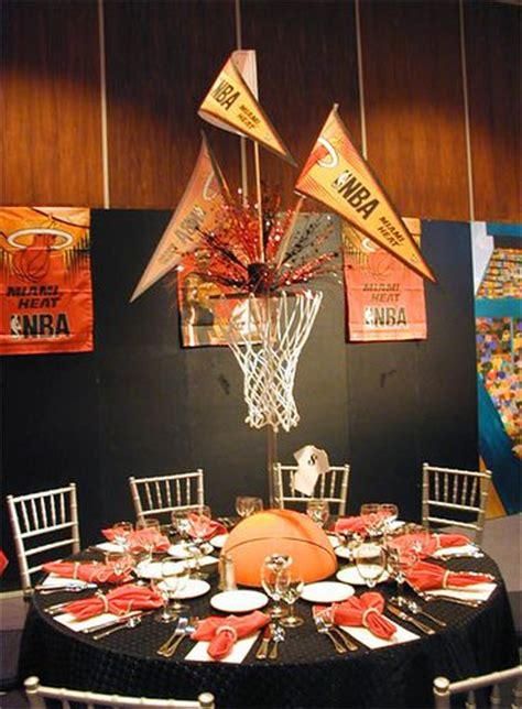theme center themes basketball theme totally awesome centerpiece want