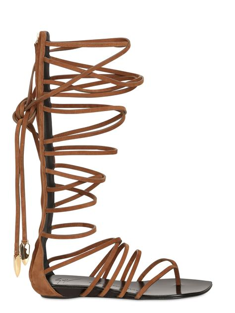 brown leather gladiator sandals giuseppe zanotti lace up leather gladiator sandals in