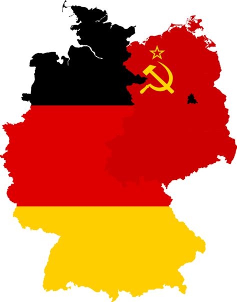 map east germany west germany west germany east germany flag map by
