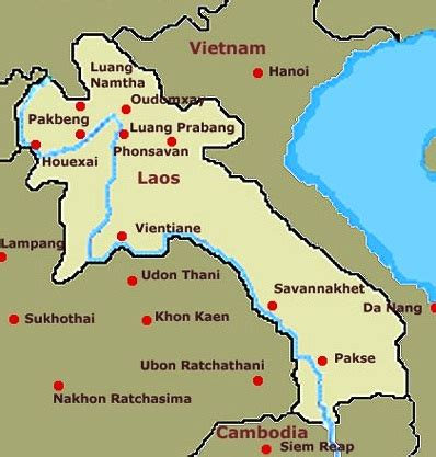 map of laos laos the best countries in asia