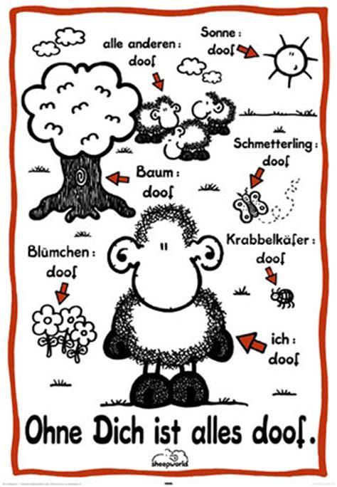 sheepworld decke sheepworld ohne dich ist alles doof poster 61x91 5