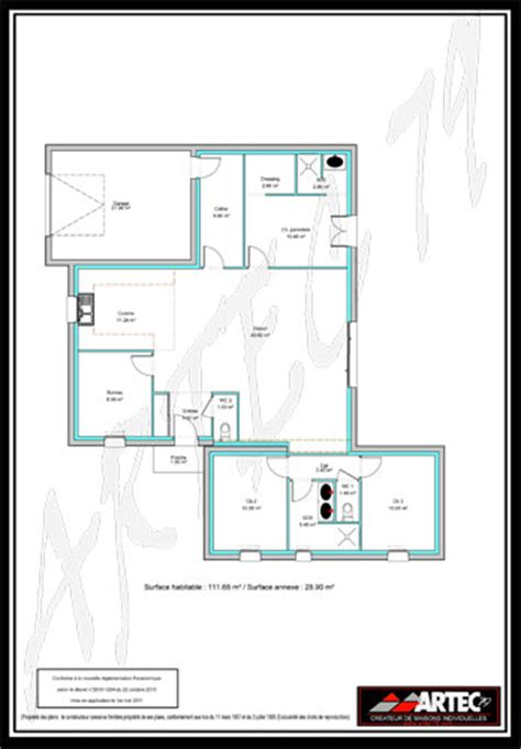 plan maison plain pied 3 chambres 100m2 plan maison plain pied 3 chambres 100m2 evtod
