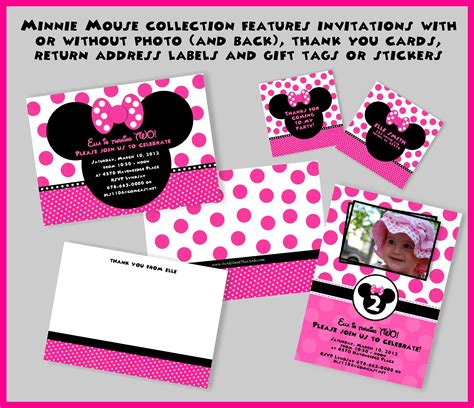 Free Printable Mickey Mouse Birthday Cards Luxury - minnie mouse birthday card template 28 images free