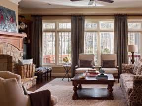 traditional living room with warm tones hgtv