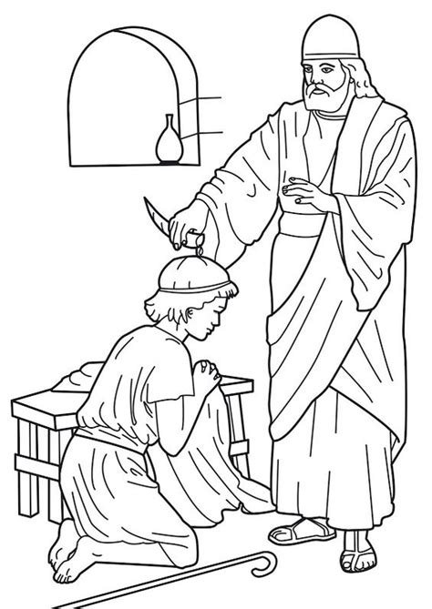 bible king coloring page samuel anointing david king bible coloring pages biblia