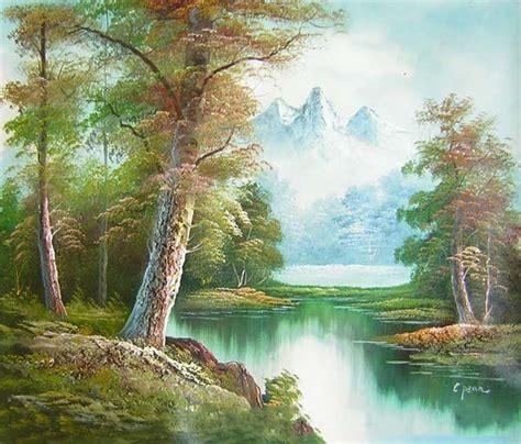 mountain landscape oil paintings images