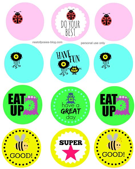 printable stickers for school back to school printable stickers