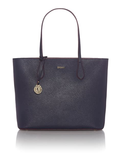 Bag Tote Navy dkny saffiano navy tote bag in blue navy lyst
